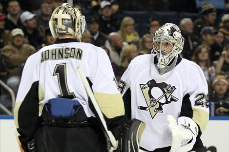 Brent Johnson's struggles could mean the Penguins are in the market for a back-up goaltender.