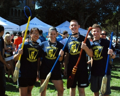 UCLA Quidditch Team Recruiting at the Activities Fair