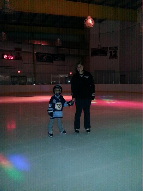 Mother's Day at Ice Castle at 1 in the afternoon. WE WERE THE ONLY PEOPLE THERE. Turn the freaking lights on!!!
