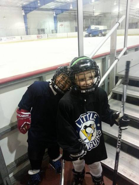 Jordan and his friend Seamus at practice